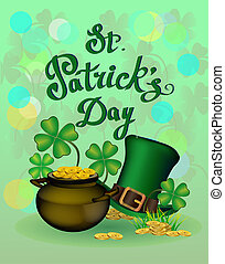 St. Patrick's Day greeting. Vector illustration. Happy St...