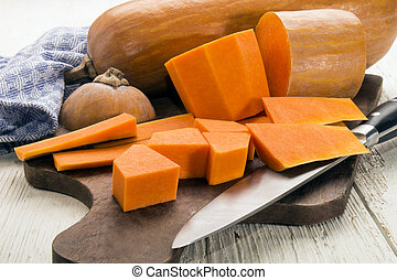 peeled and sliced butternut squash - peeled and sliced...