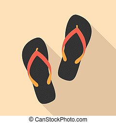 sandals - picture of a sandals pair, flat style illustration