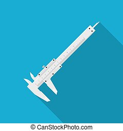 caliper - picture of a caliper on blue background, flat...