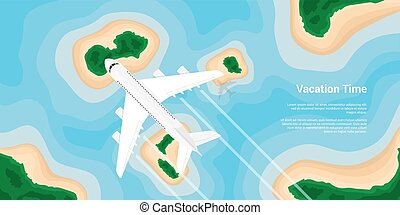 vacation in paradice - picture of a civilian plane flying...
