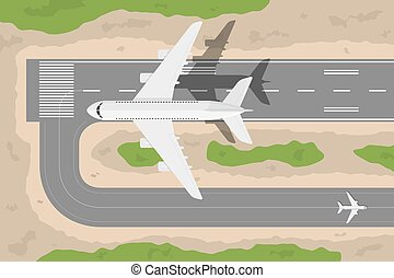 airport - picture of a civilian plane taking-off fromm...
