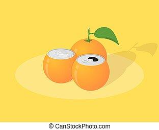 orange juice - picture of orange juice cans, orange with...