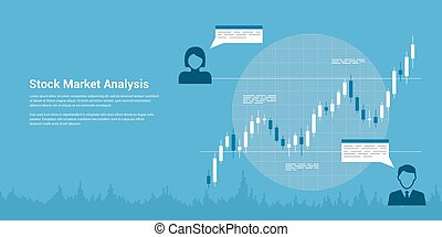 stock market analysis - picture of candlestick graph with...