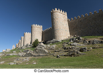 Avila (Castilla y Leon, Spain): walls - Avila (Castilla y...