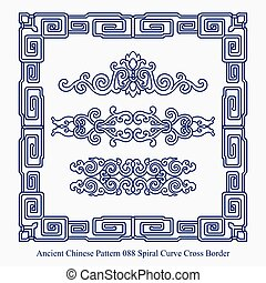 Ancient Chinese Pattern of Spiral Curve Cross Border