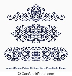 Ancient Chinese Pattern of Spiral Curve Cross Border Flower
