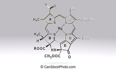 CHLOROPHYLL-D structure_front - It is present in marine red...