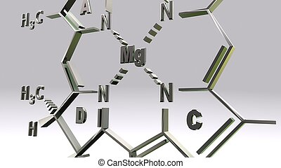 CHLOROPHYLL-D structure_perspective - It is present in...