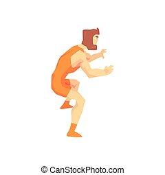 Skinni Guy Greco-Roman Wrestling Martial Arts Fighter,...