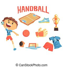 Boy Handball Player, Kids Future Dream Professional Sportive...
