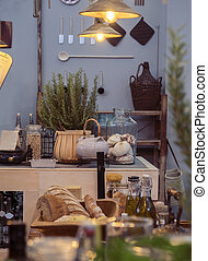 country style and home objects - kitchen in country style...
