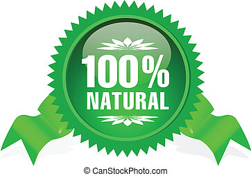 label for natural products - label with ribbon for natural...