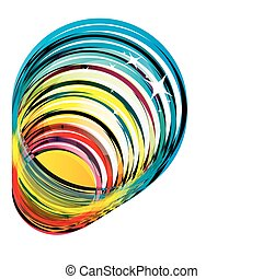 Funky colorful glass vector