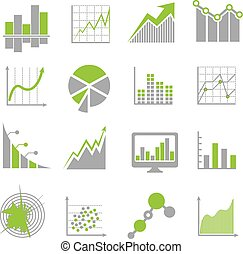 Data analysis signs and financial business analytics vector...
