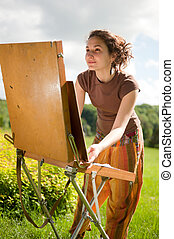 abierto, Aire, Pintura