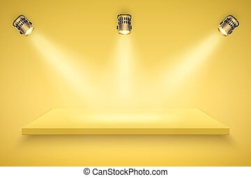 Yellow Presentation platform - Light box with yellow...