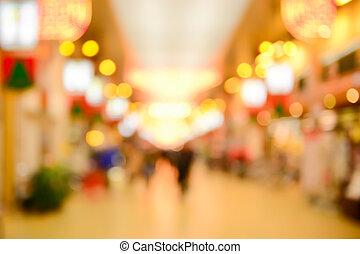 Street lights bokeh for background