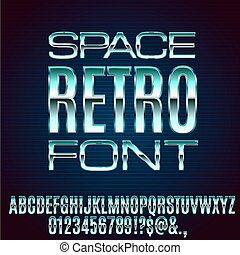 Retro Future Font - Retro Future Space Old VHS Age Blue...