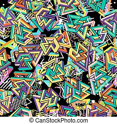Vector Pattern 80s. Geometric Seamless Abstract Background....
