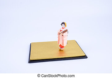 Japanese figurine with white back ground - the Japanese...