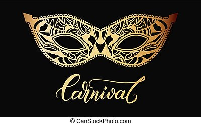 Mardi Gras mask of lace background. - Mardi Gras Carnival...