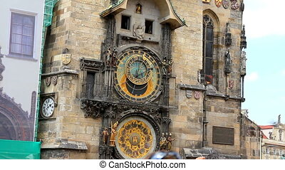Prague Astronomical Clock 37 - PRAGUE - June 6, 2010: The...