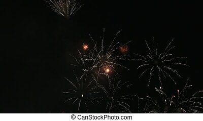 New Year's eve fireworks at night 1080p hd