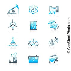 Energy icons || MARINE series - Energy, power and...