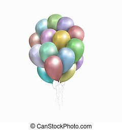 Vector isolated sheaf of colored balloons - . Realistic...