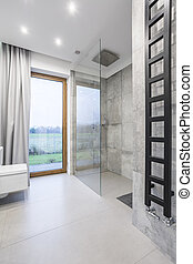 Minimalistic design in bathroom