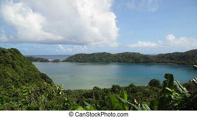 Tropical lagoon,sea, beach. Tropical island. Catanduanes, Philippines.