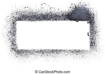Blank stencil frame isolated on the white background -...
