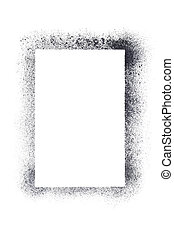 Vertical blank stencil frame isolated on the white...