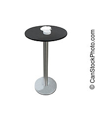 circular table under the white background