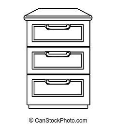 Kitchen chest of drawers