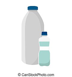 milk bottle product icon