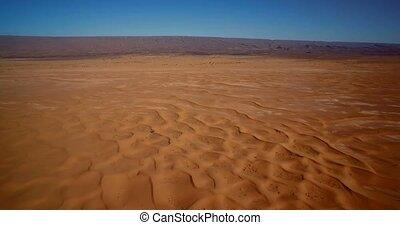 chegaga, aus, fliegendes, Luftaufnahmen, dünenlandschaft, marokko,  Erg,  sahara