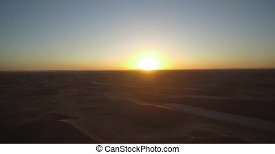 Aerial, Sahara Sunset, Erg Chegaga, Morocco - Native...