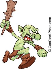 Running troll - Cartoon running troll. Vector clip art...