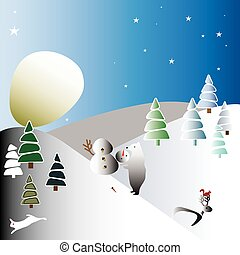 the moon like a huge snowball.eps