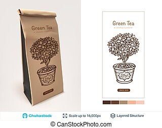 Tea package design.