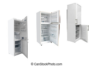 refrigerators - The image of refrigerators under the white...