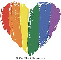heart in rainbow colors - LGBT heart in rainbow colors...