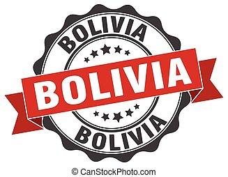 Bolivia round ribbon seal