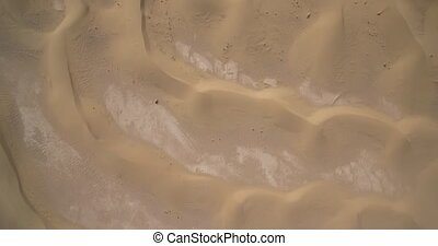 Aerial, Vertical Flying Over Sahara Dunes, Erg Chegaga,...