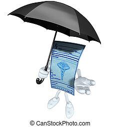 Medical Prescription With Umbrella