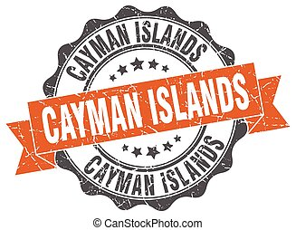 Cayman Islands round ribbon seal