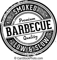 Vintage Style Barbecue BBQ Restaurant Sign