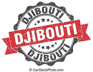 Djibouti round ribbon seal